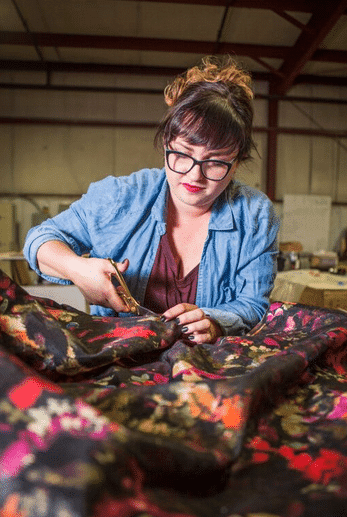 Brianne sewing - copyright 2015 The Huntswoman