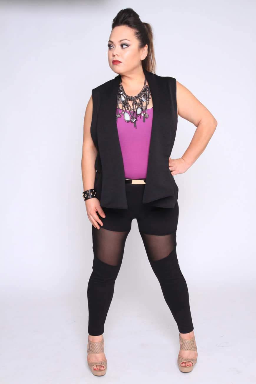 Myrda J Petite Plus Size & Custom: Mesh Leggings