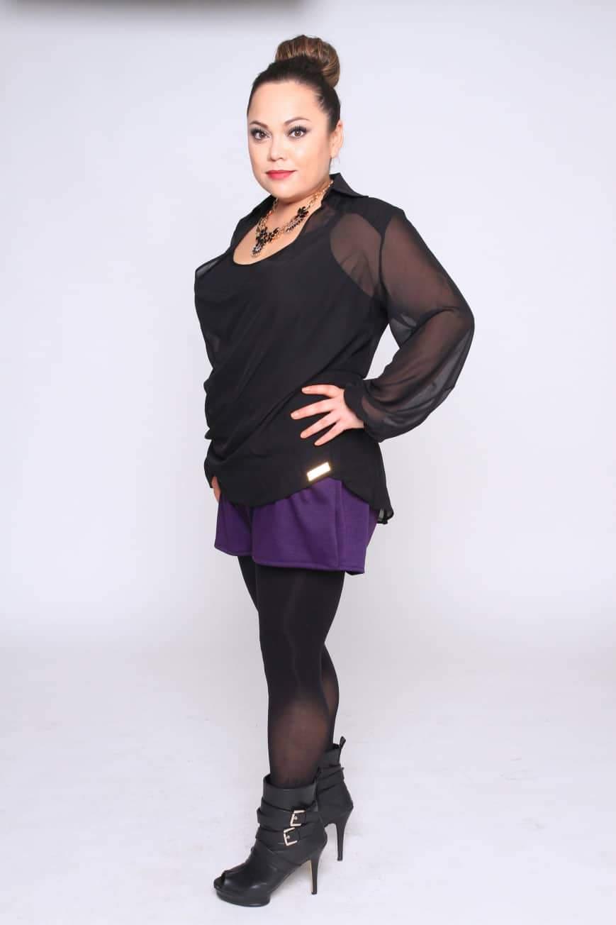 Myrda J Petite Plus Size & Custom: Cowl Top