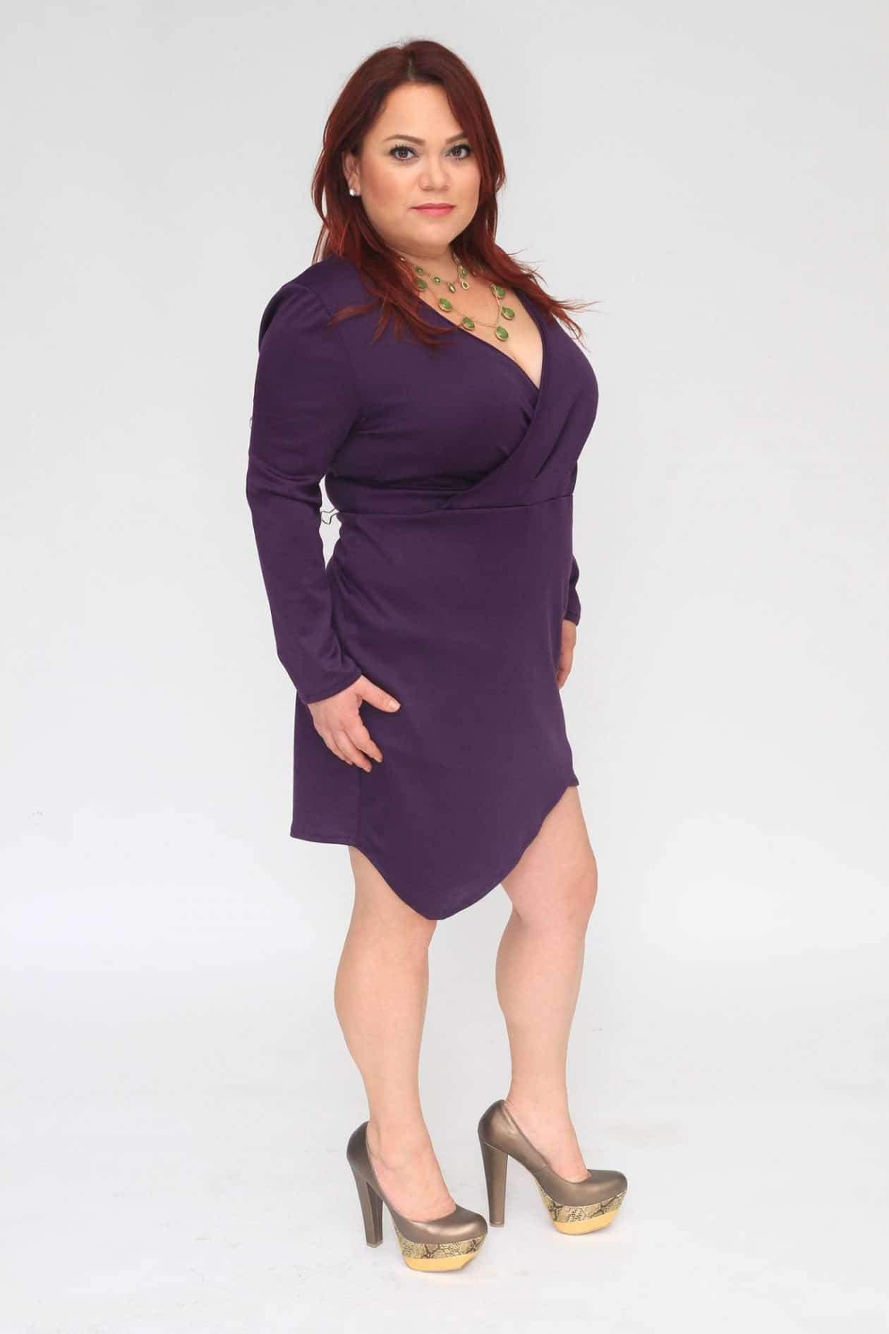Myrda J Petite Plus Size & Custom: Wrap Dress