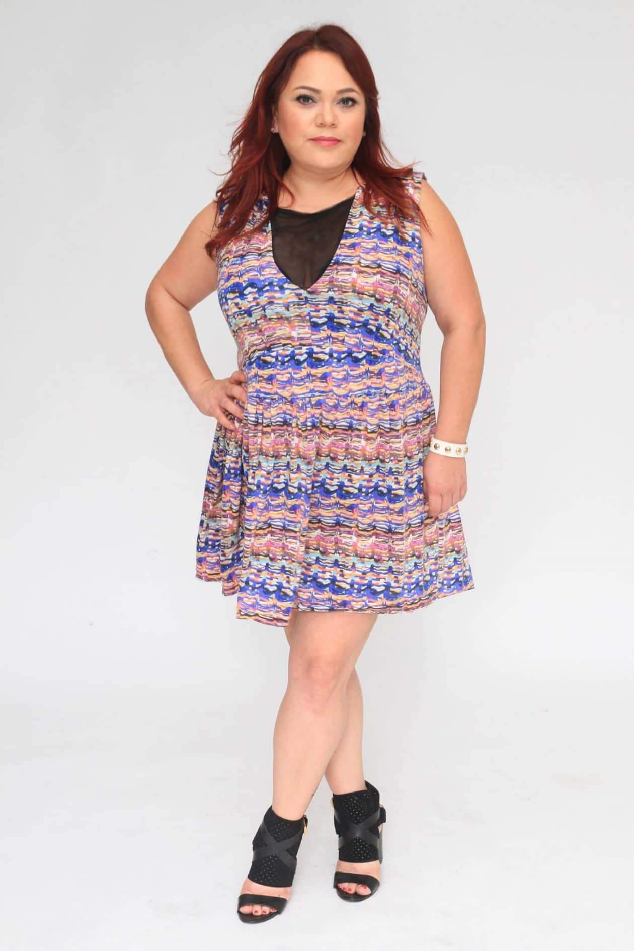 Myrda J Petite Plus Size & Custom: Deep V Dress
