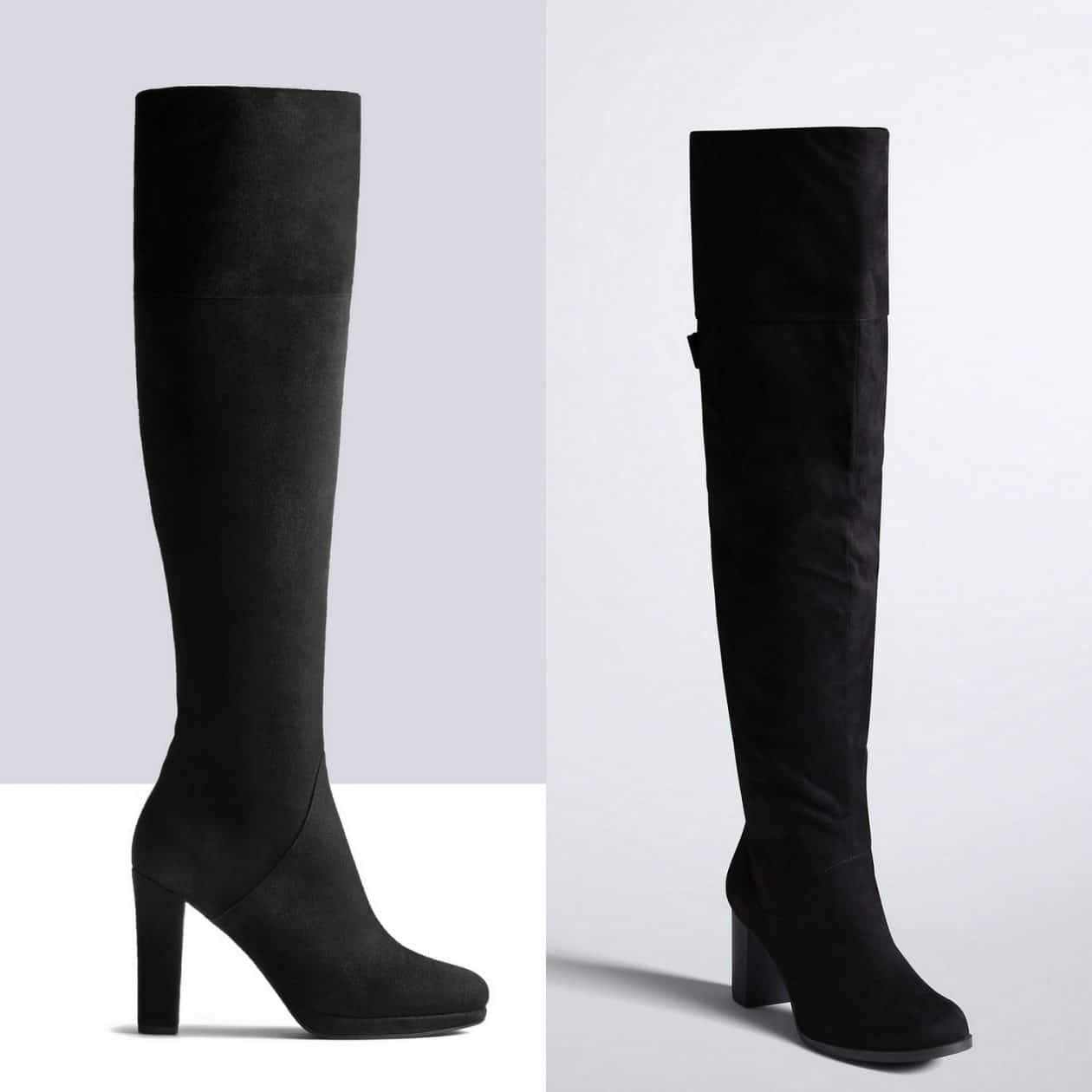Suede Over the Knee Wide Calf Boots
