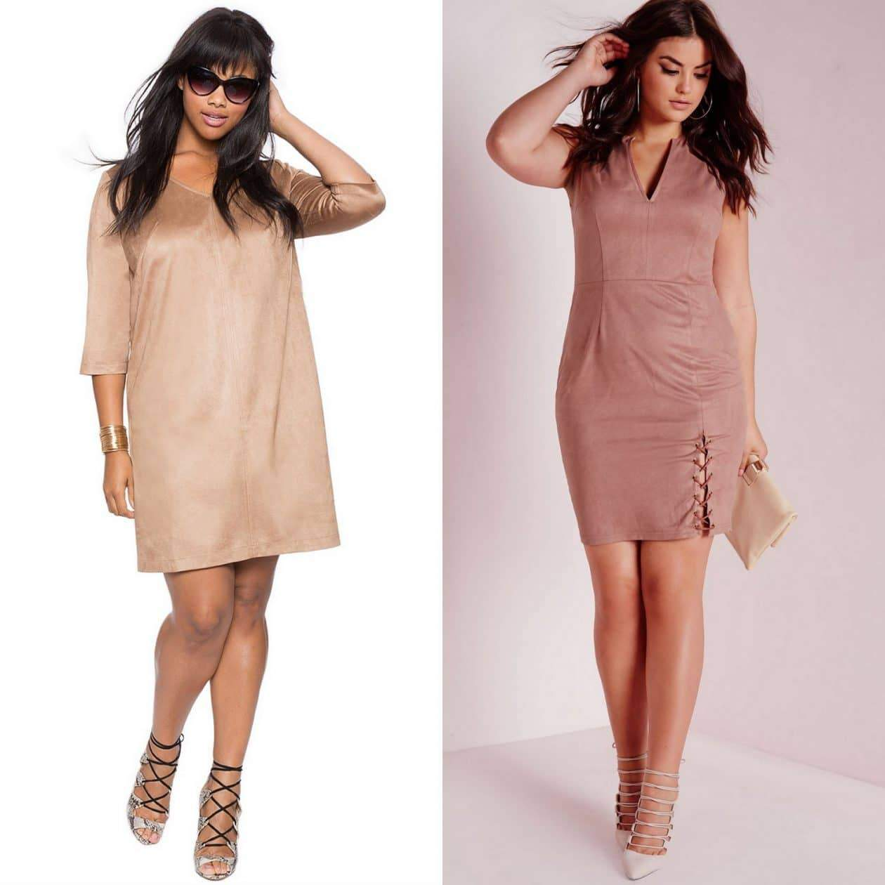 Plus Size Suede Dresses