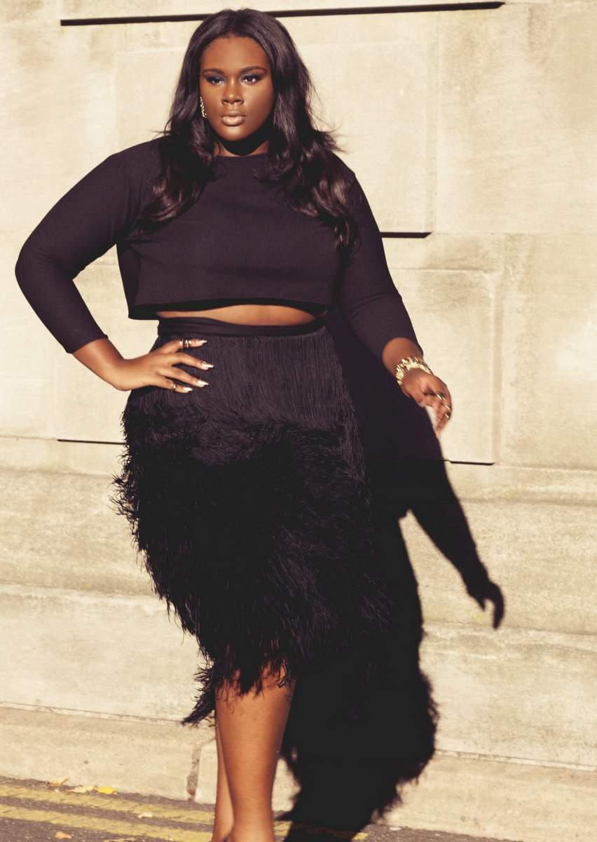 Courtney Noelle plus size fringe skirt