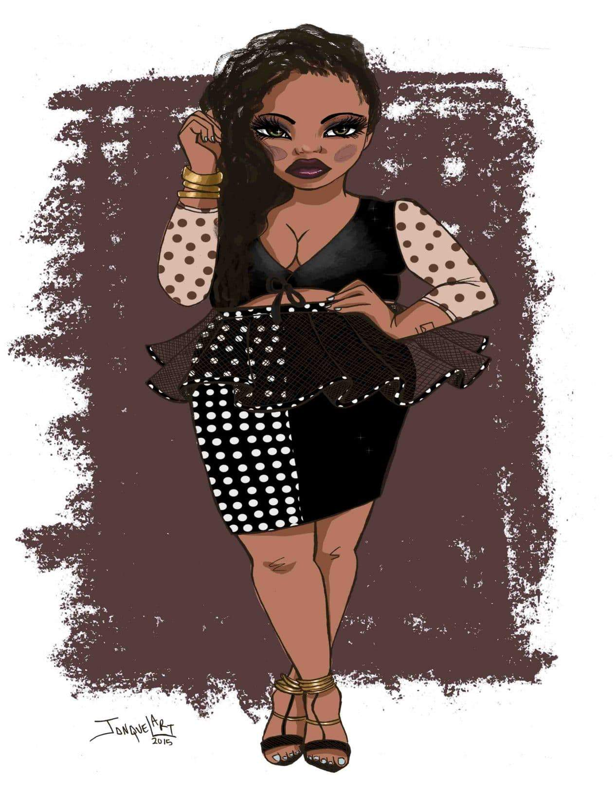 A Thick Girl's Closet Plus Size Illustration by Jonquel Norwood