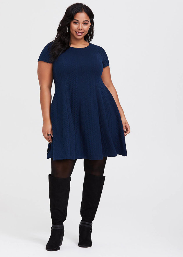 Fall Plus Size Sweater Dresses:
