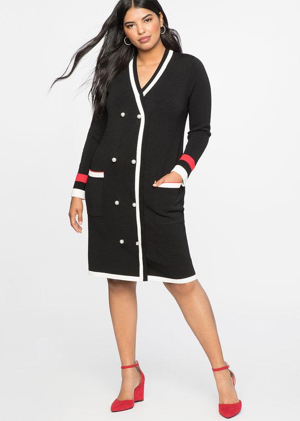 Fall Plus Size Sweater Dresses: Cardigan Sweater Dress