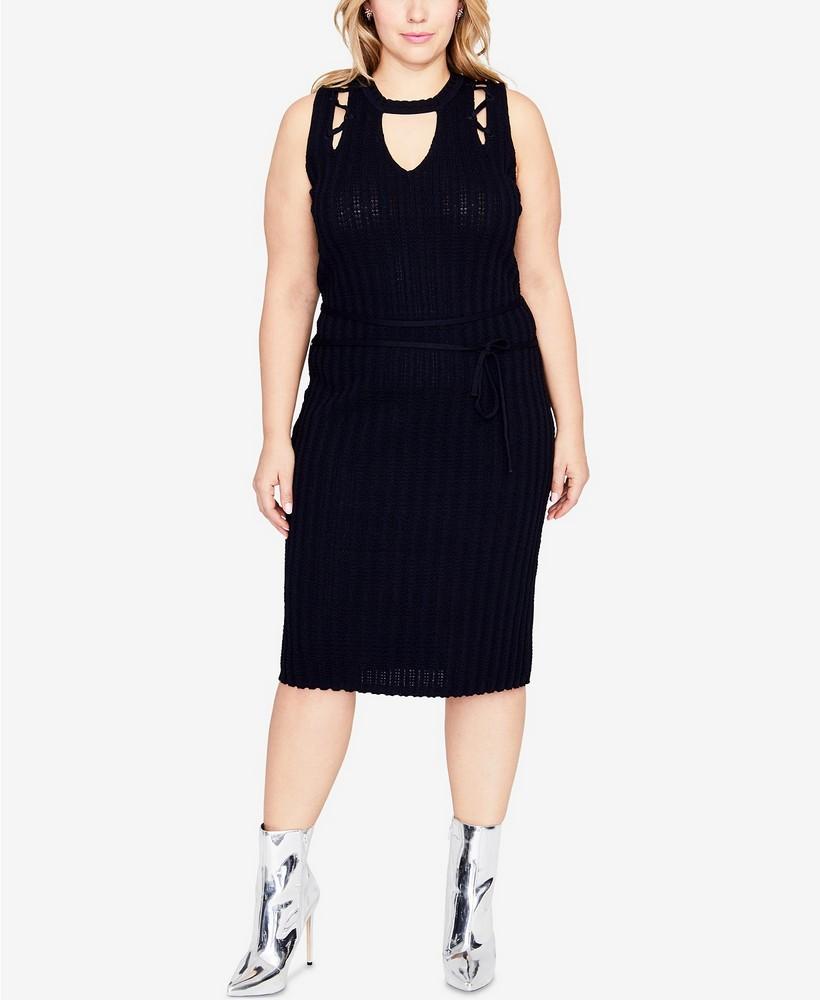 Fall Plus Size Sweater Dresses: RACHEL Rachel Roy Plus Size Cutout Sweater Dress