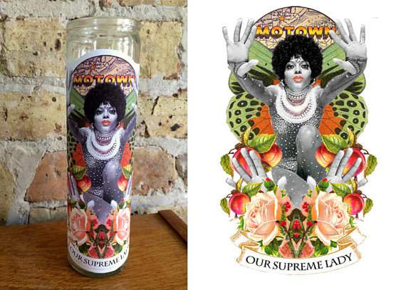 """DIANA ROSS Altar/ Prayer Candle: """"Our Supreme Lady"""""""