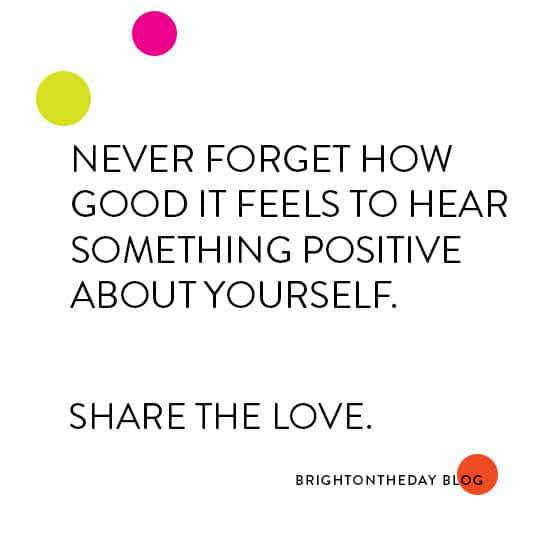 Share the love compliment