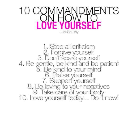Love Yourself Commandments