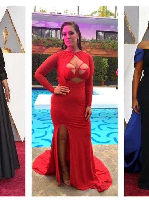 Curves on the Scene at the Oscars: Whoopi, Mindi, and Ashley!