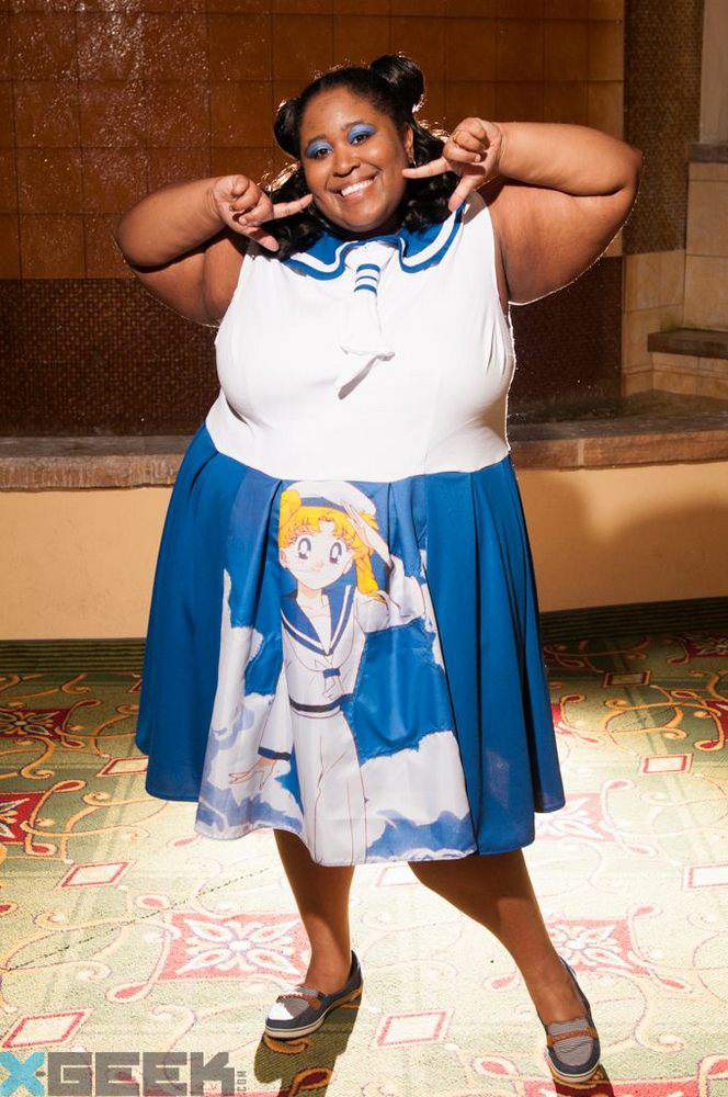 Plus Size Cosplay with Brichibi Cosplays- Sailor Moon Wall Scroll dress