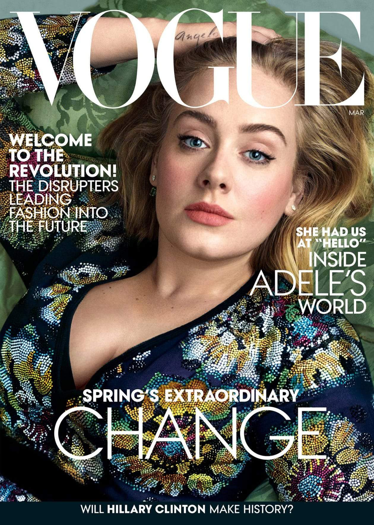 Adele Covers March Vogue Magazine