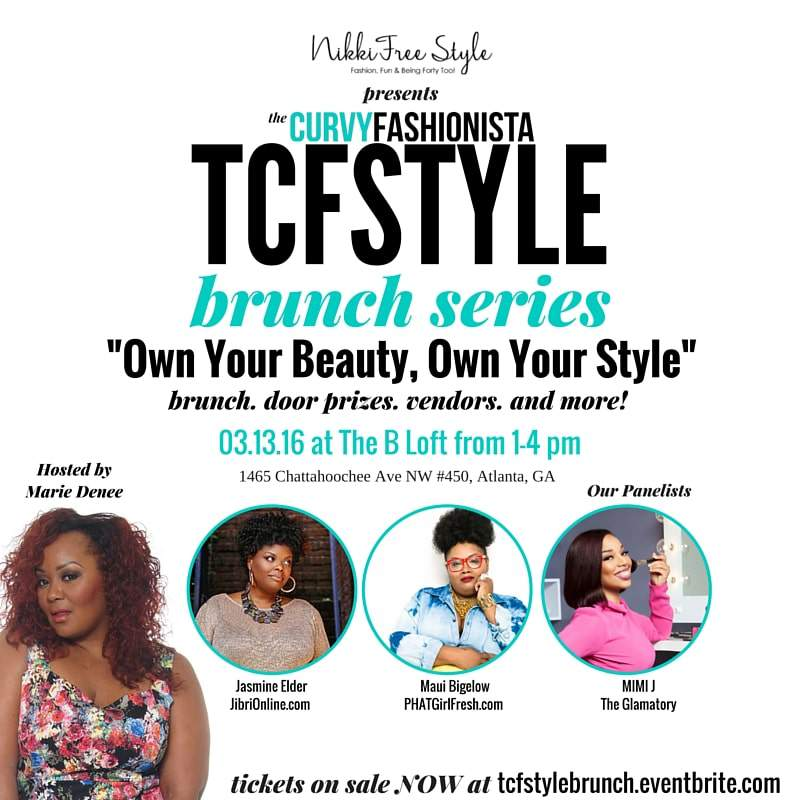The Curvy Fashionista TCFStyle Brunch Series in Atlanta, Georgia