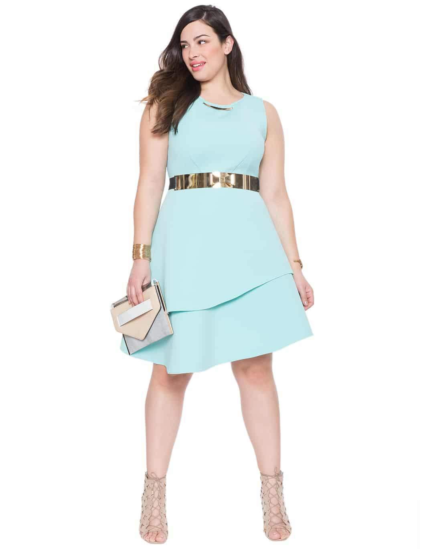 Studio Bonded Pique Dress