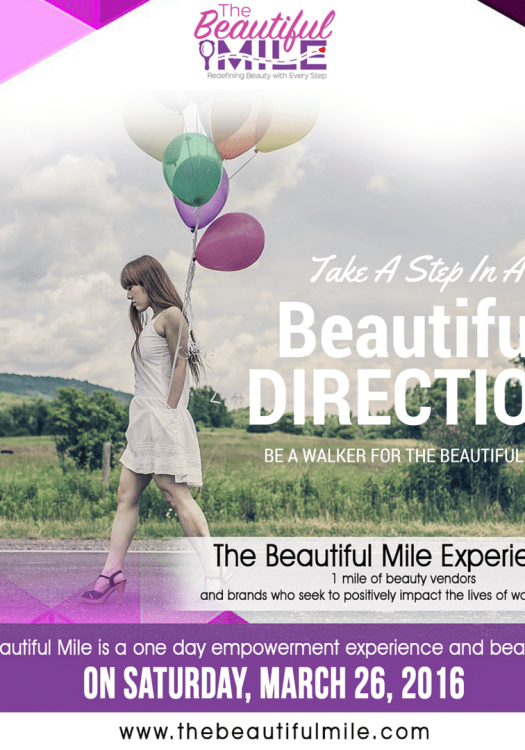 Marie Denee from The Curvy Fashionista participates in the Beautiful Mile