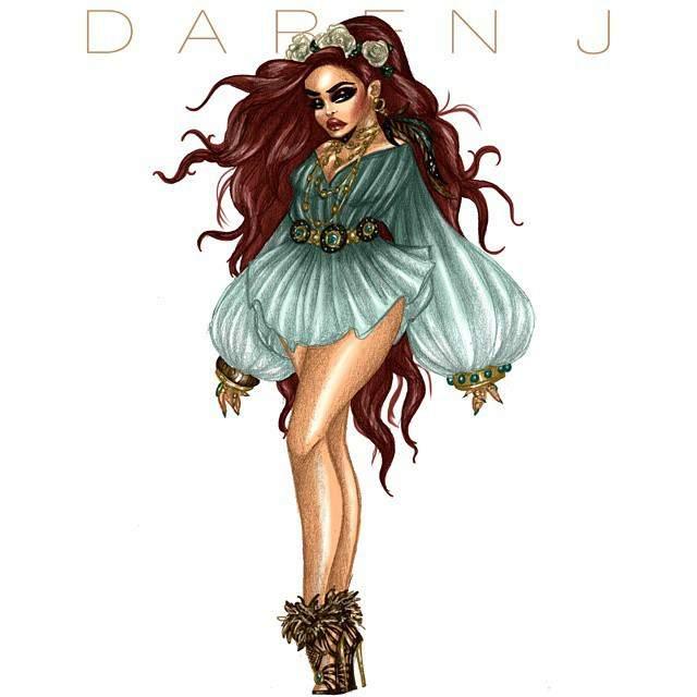 Fashion Illustrator- Daren J Plus Bohemian Babes Collection