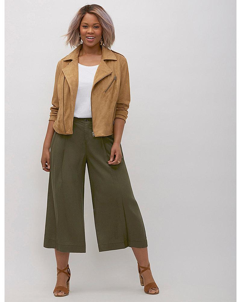 Lane Bryant plus size wide leg crop pants