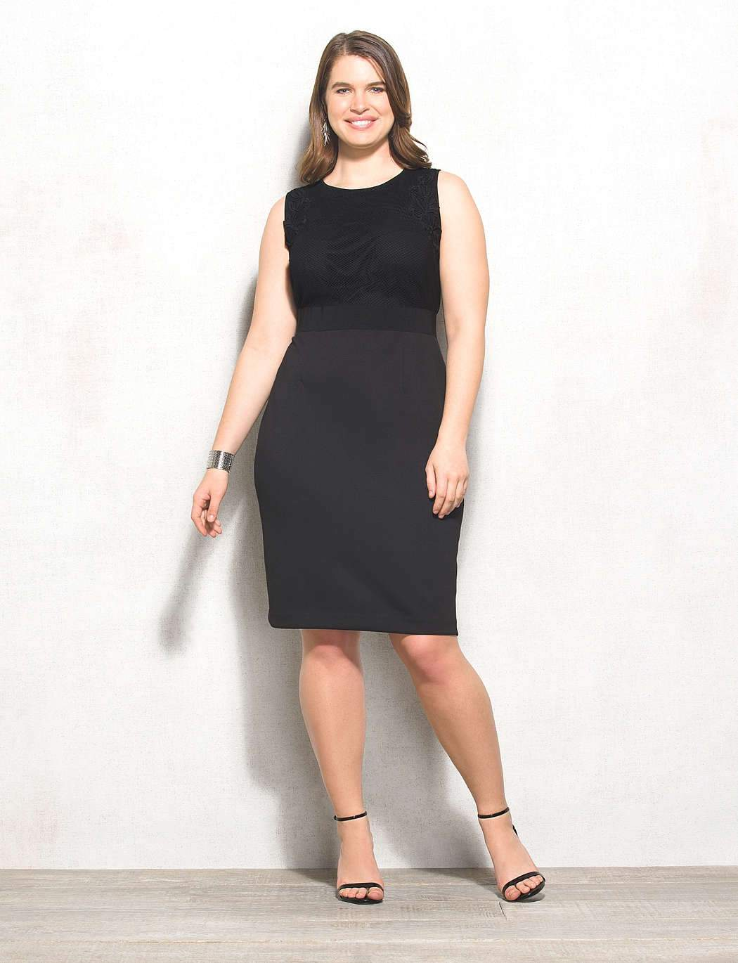 Beyond By Ashley Graham for DressBarn- The Lace Scuba Dress