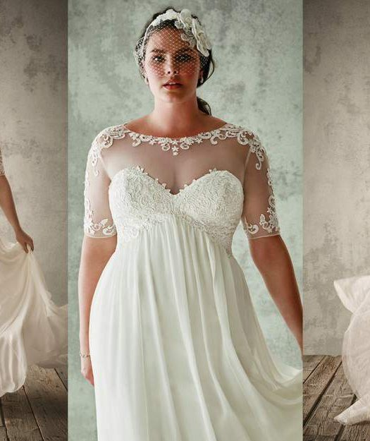 For the Plus Size Bride: Oleg Cassini for David's Bridal