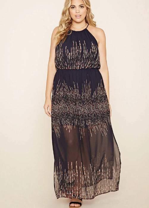 Abstract Maxi Dress