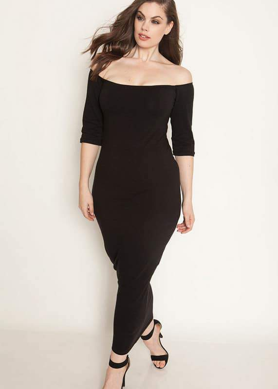 No Body Like You Over The Shoulder Bodycon Maxi Dress