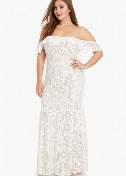 Darling Off Shoulder Lace Maxi Dress
