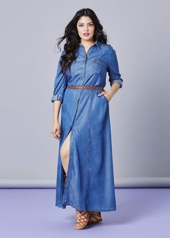 Button Through Tencel Dress