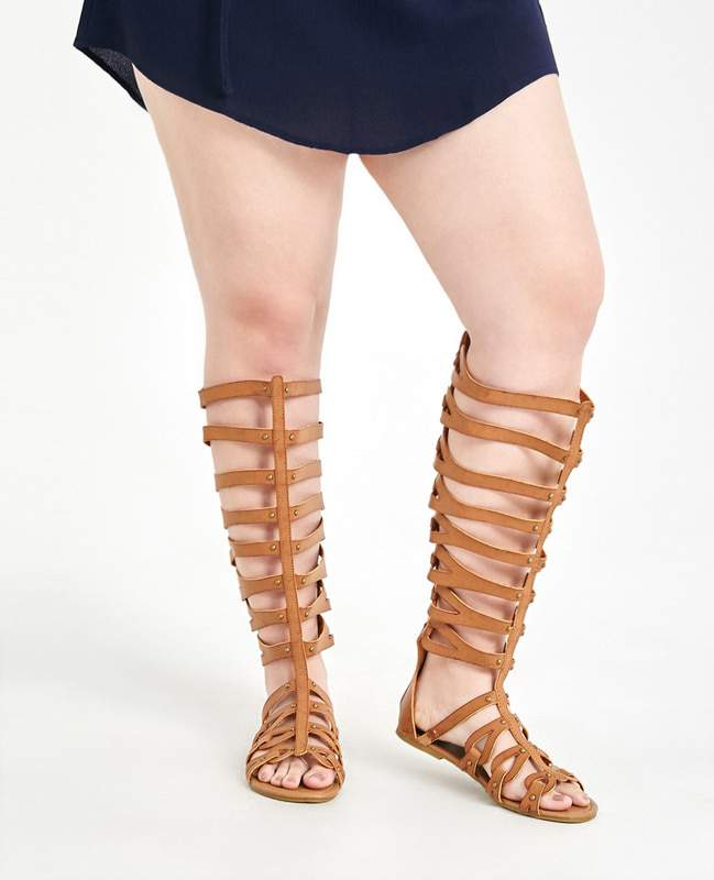 Tall Wide Width Gladiator Sandals at WetSeal