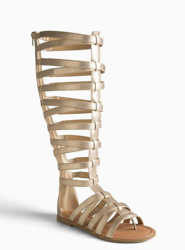 Tall Knee Gladiator Sandals