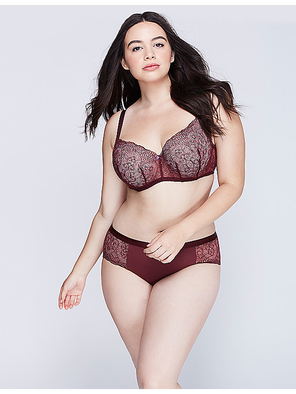 LACE LIGHTLY LINED SMOOTH BALCONETTE plus size bra