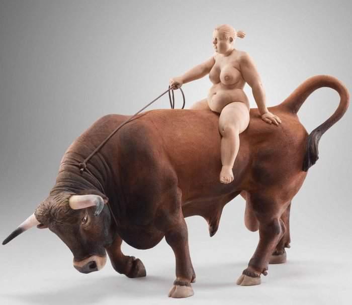 Matthias Verginer- Plus Size Art The Cowgirl