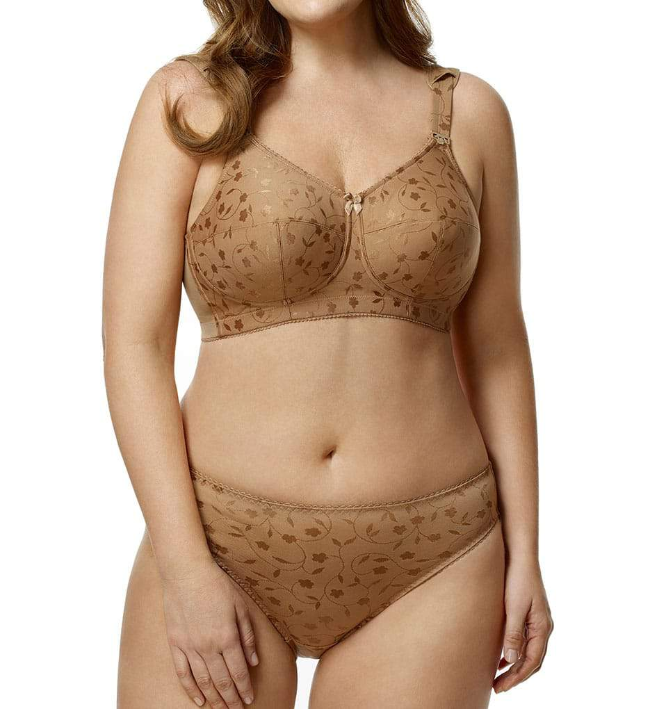 Elila Jacquard Softcup Bra with Cushioned Straps