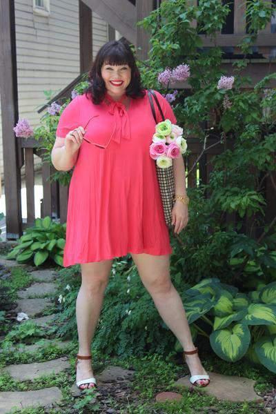Watermelon Bow Tie Dress at Society Plus