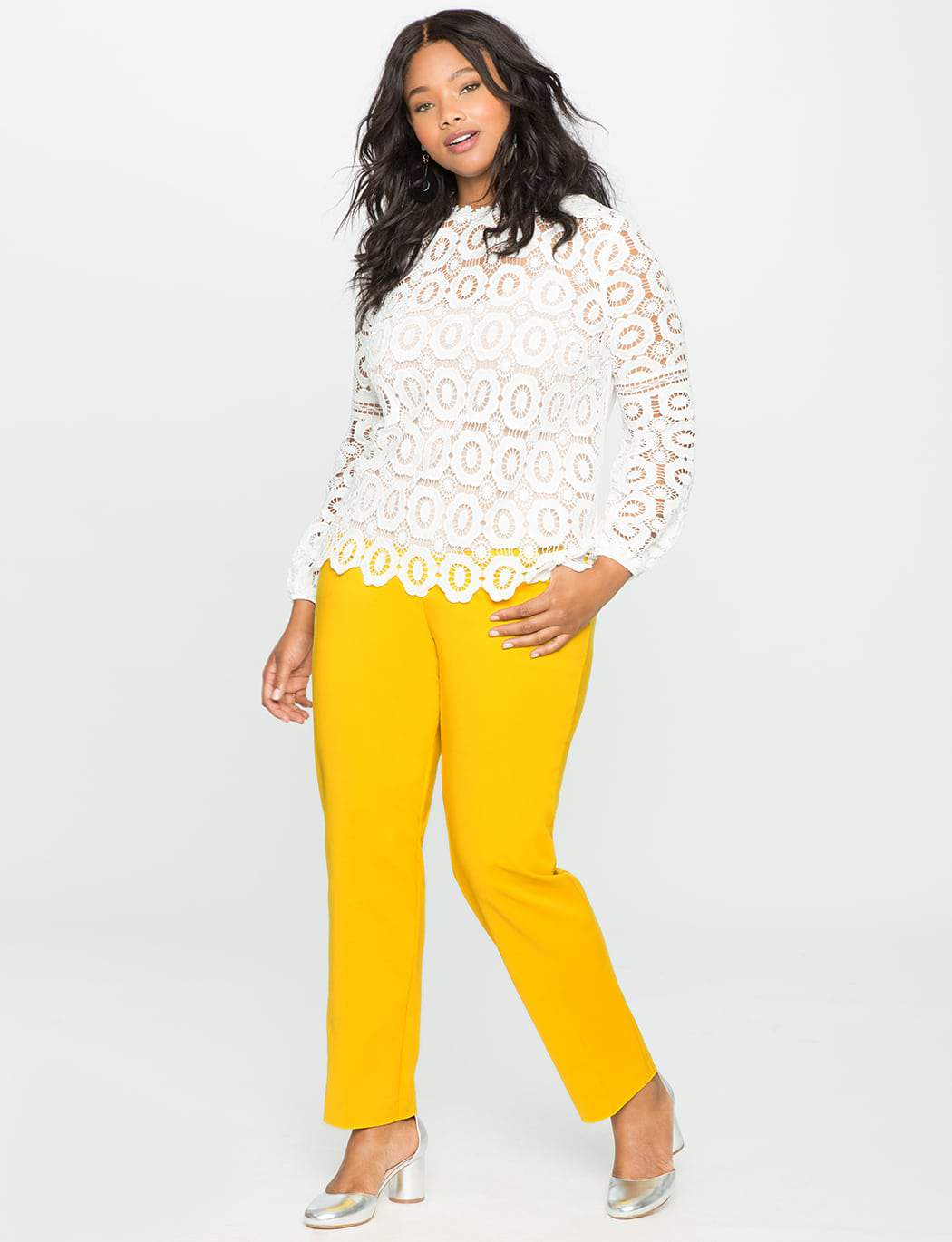 Kady Fit plus size Double-Weave Pant at Eloquii