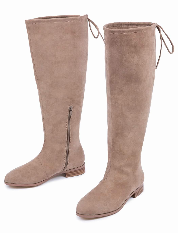 Wide Calf Knee High Flat Boot at Eloquii