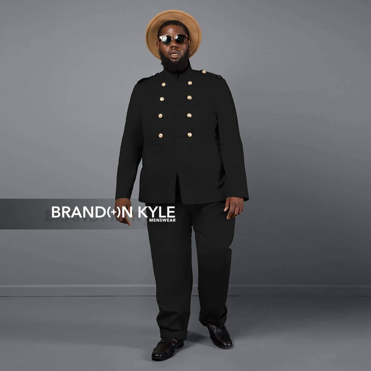 Brandon Kyle Plus Menswear- Military Jacket
