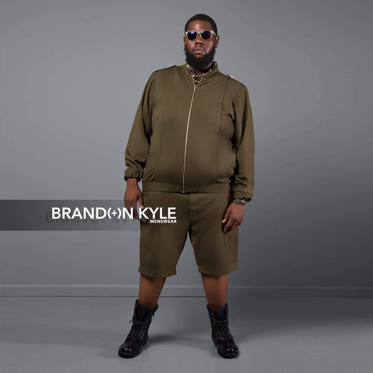 Brandon Kyle Plus Menswear- Bomber Jacket