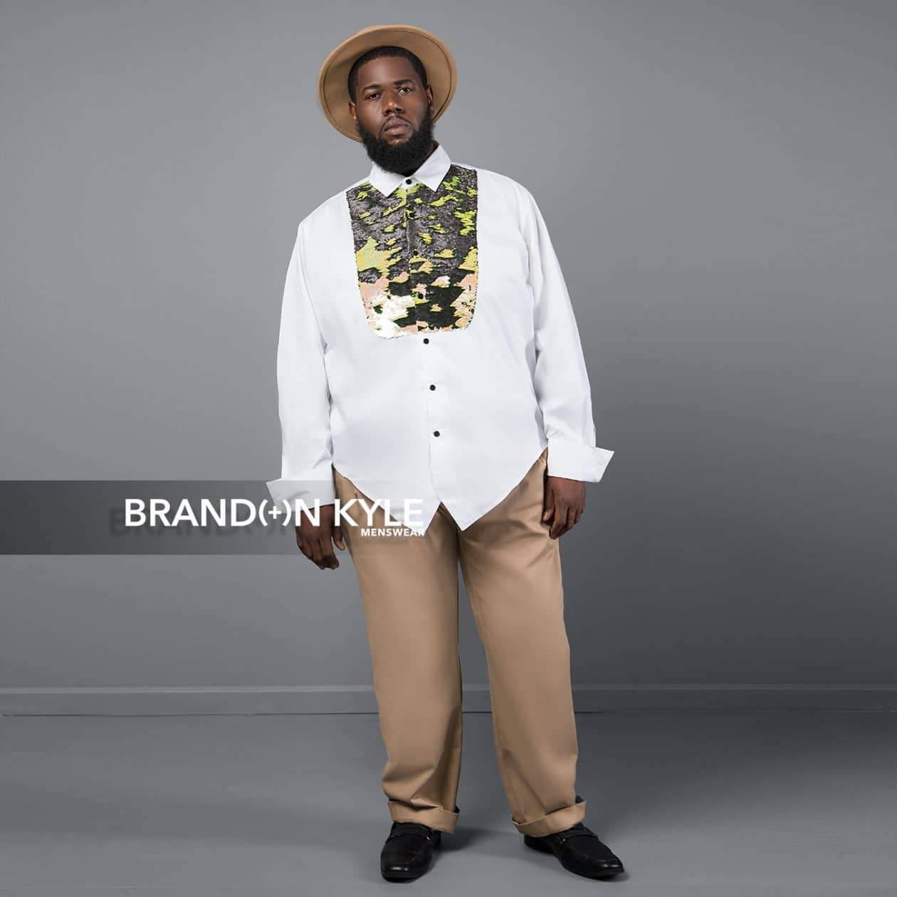 Brandon Kyle Plus Menswear- Tuxedo Shirt