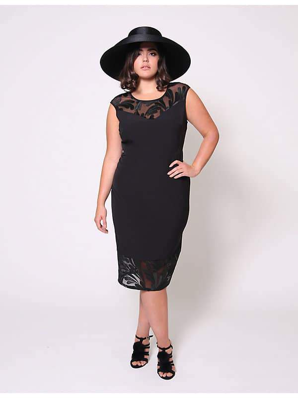 Christian Siriano for Lane Bryant Lace Trimmed Dress