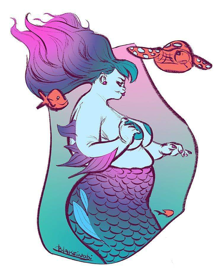 Plus Size Art Spotlight on Blake Inobi- Plus Size Fairies and Mermaids
