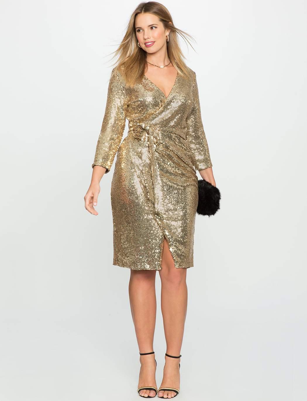 Sequin Dress-Eloquii Wrap