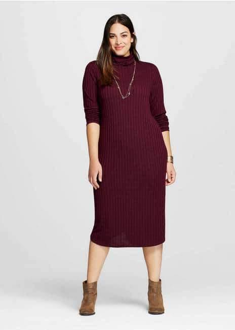 Rib Knit Midi Dress by Ava & Viv