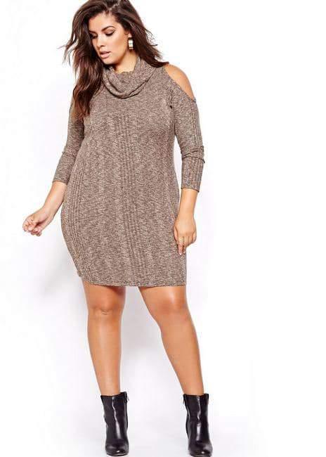 Nadia Aboulhosn Cold Shoulder Dress for L&L