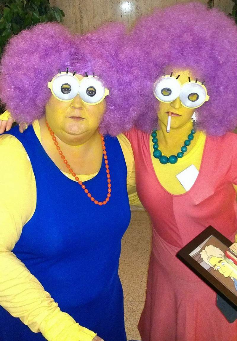 Cheri L. and friend as Selma and Patty from the Simpsons