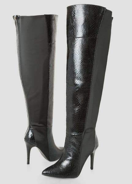 Snake Over The Knee Wide Calf Boot at Ashley Stewart
