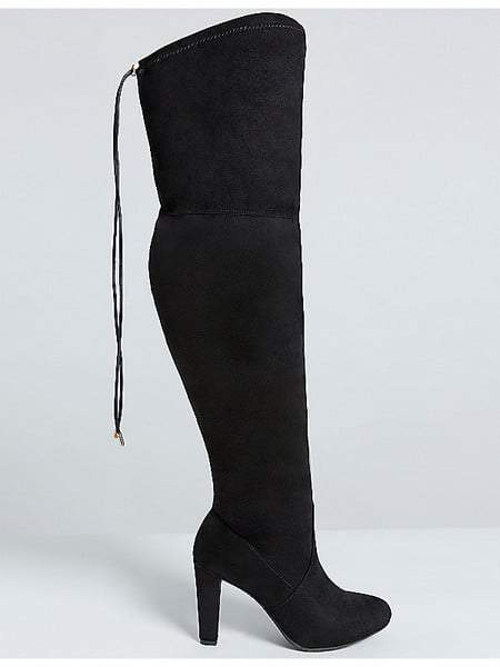 Over-The-Knee Faux Suede Wide Calf Boot