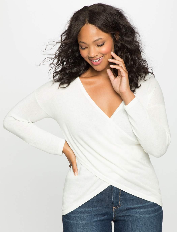Kelsey Cross Front Plus Size Sweater