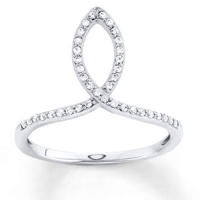 Diamond Ring 1 5 ct tw Round-cut Sterling Silver